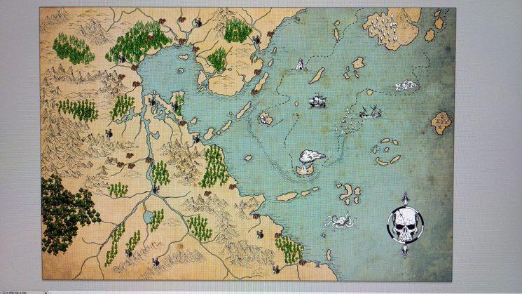 Mapa de Valion incluyendo Marjalnegro