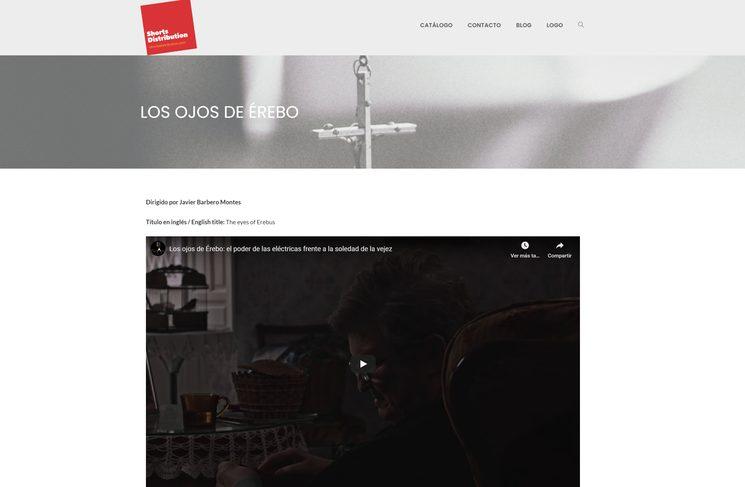 Imagen de la web de la distribuidora Short Distribution