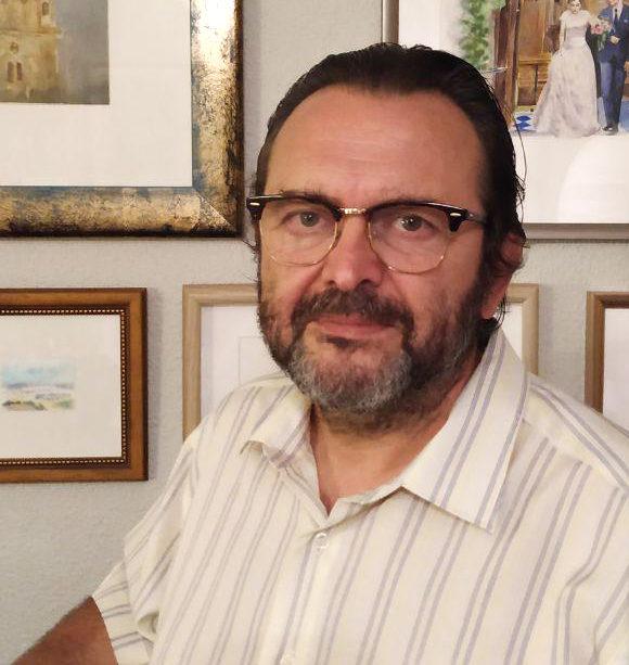 Paco Gambín, acuarelista y creador del proyecto.