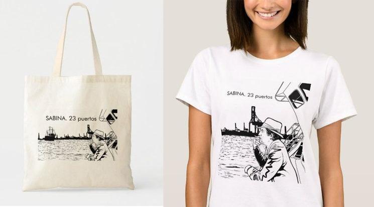 Bolsa de tela y Camiseta serigrafiadas