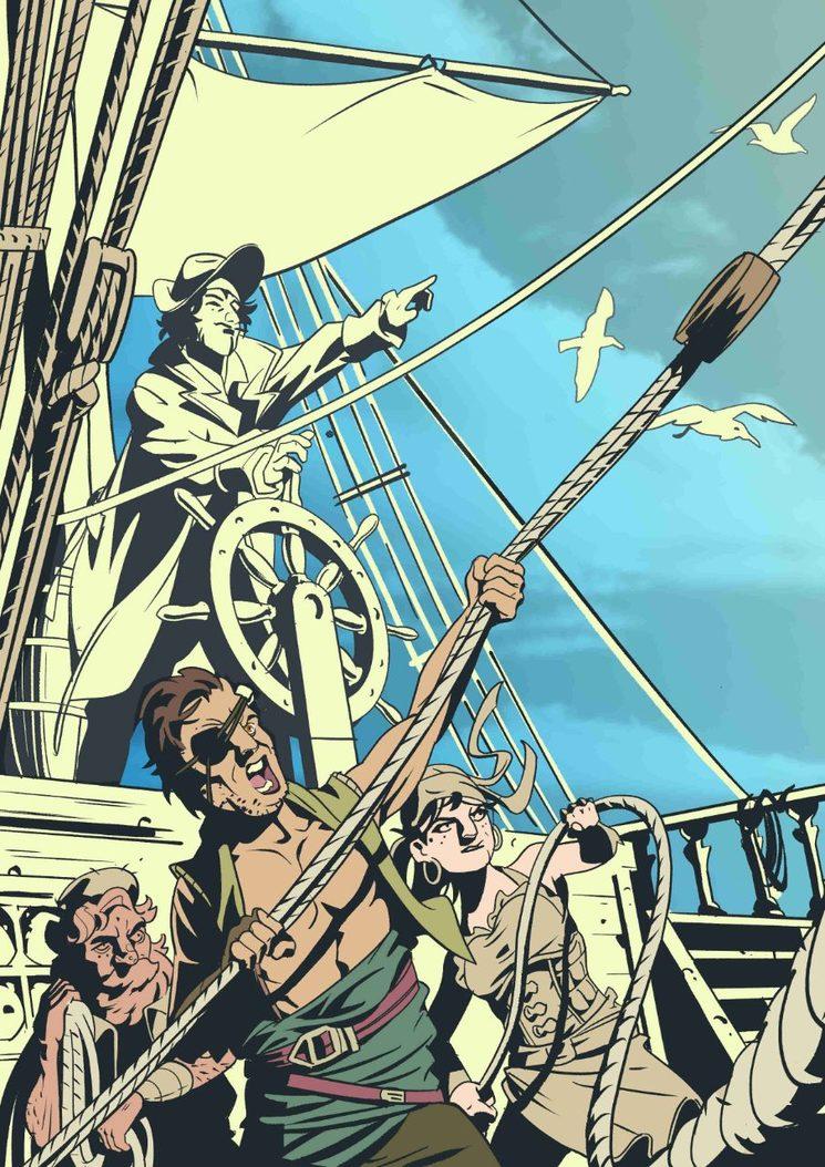 Boceto de imagen incluida en el libro