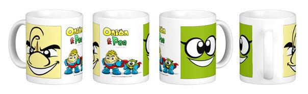 Detalle del diseño a color de la taza.