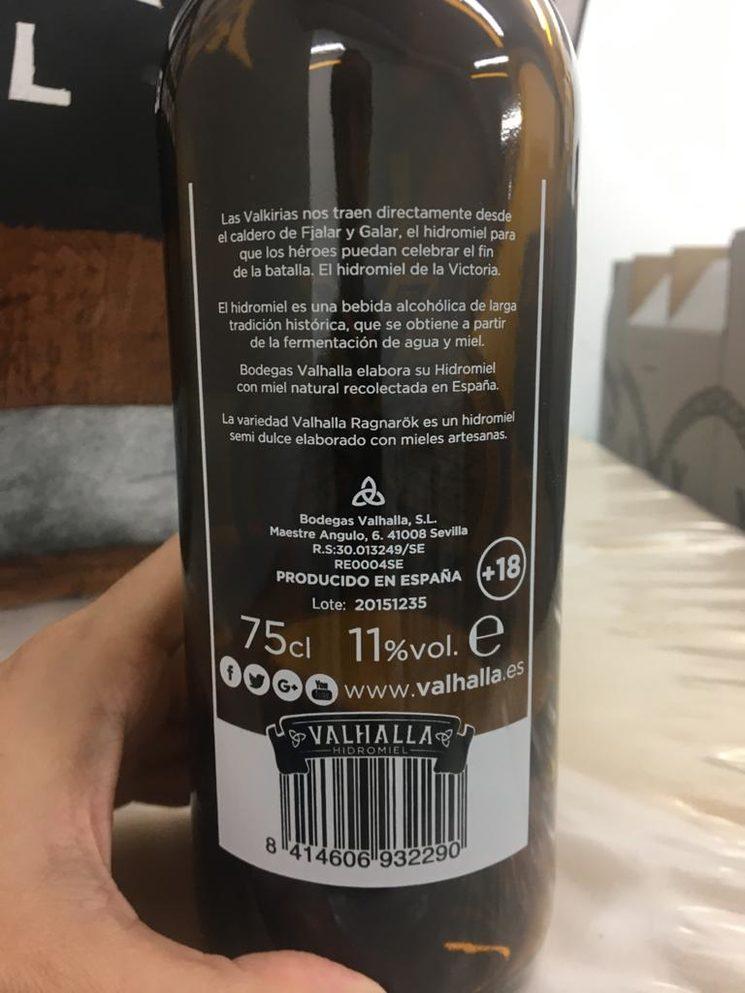 Trasera botella Valhalla Ragnarök