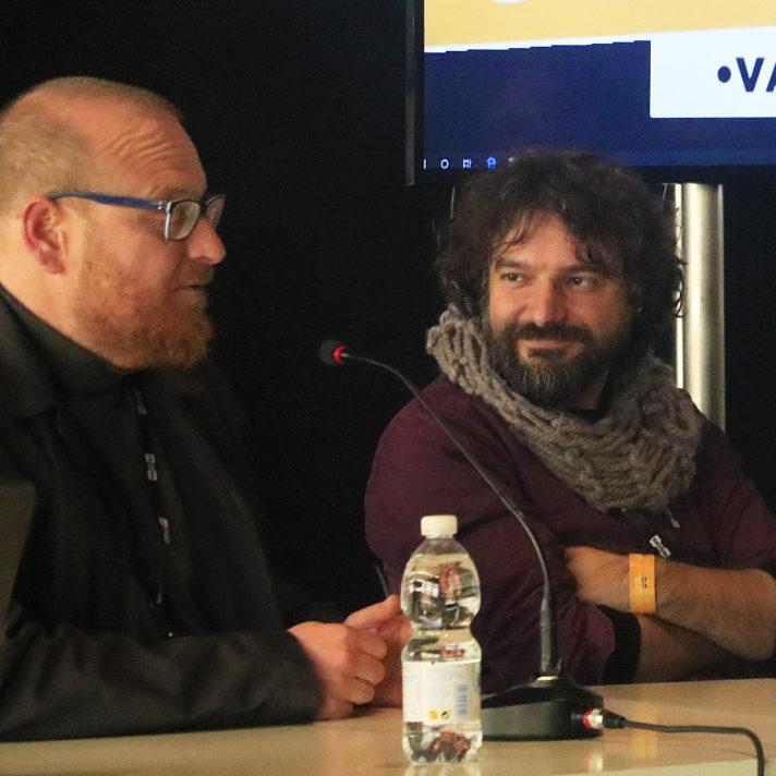 Francisco Ruizge y Sergio Bleda en la Héroes Comic Con de Valencia en 2019. Fotografía de Belén Carrillo.