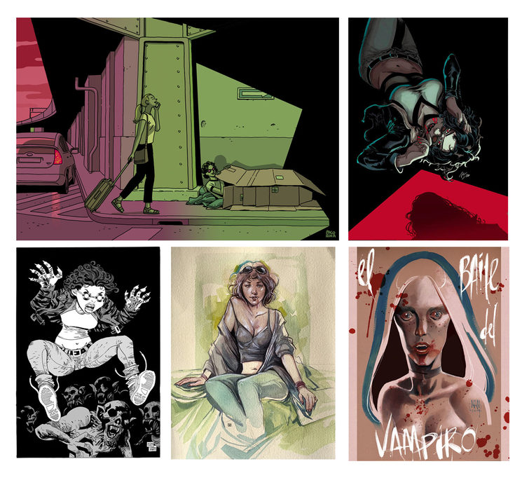 Versiones de Paco Roca, Vicente cifuentes, Victor Santos, Samu y Man. (En el cuadernillo cada versión aparecerá impresa a página completa)