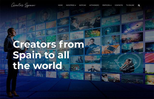 Nuestra plataforma CreatorSPAIN.com para difusión de la creatividad de España