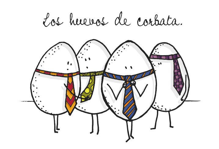 Los huevos de corbata