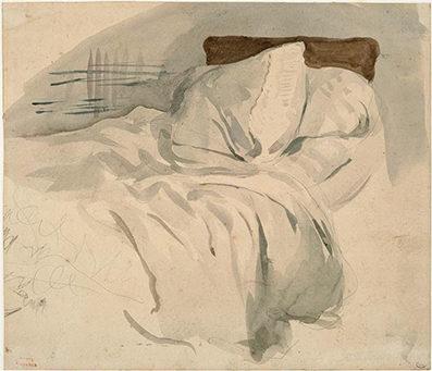 Un lit defáit, Eugène Delacroix