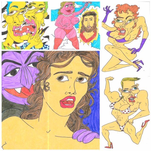 muestra de algunas de las ilustraciones originales firmadas por Samantha