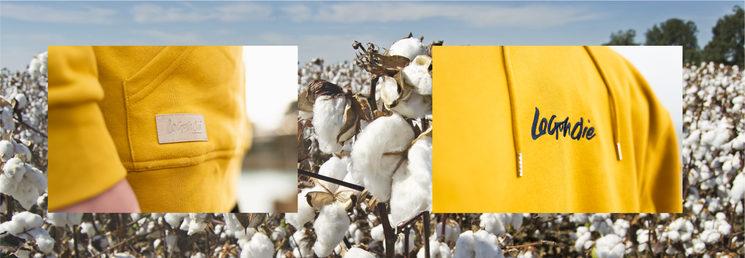Nuestras prendas son 100% algodón ecológico y poliester reciclado