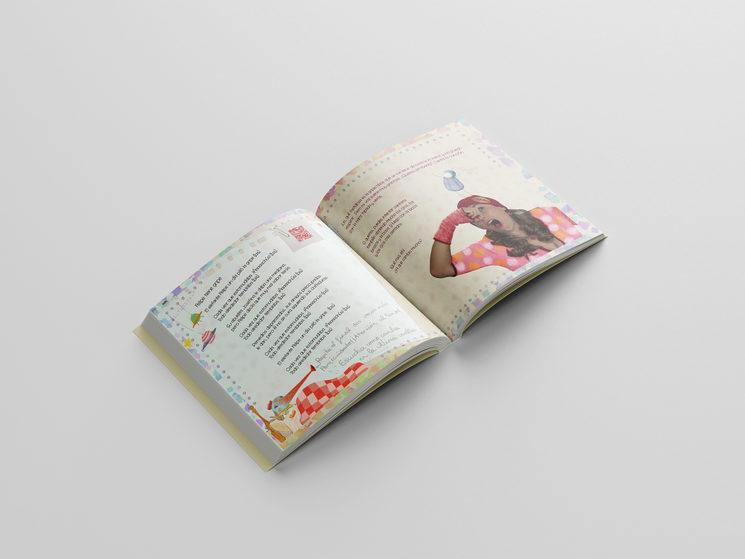 Presentación simulada de una doble página del libro libro.