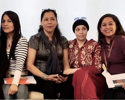 Ericka, Silvia, AQuatif, Flavia: 4 miembras del sindicato