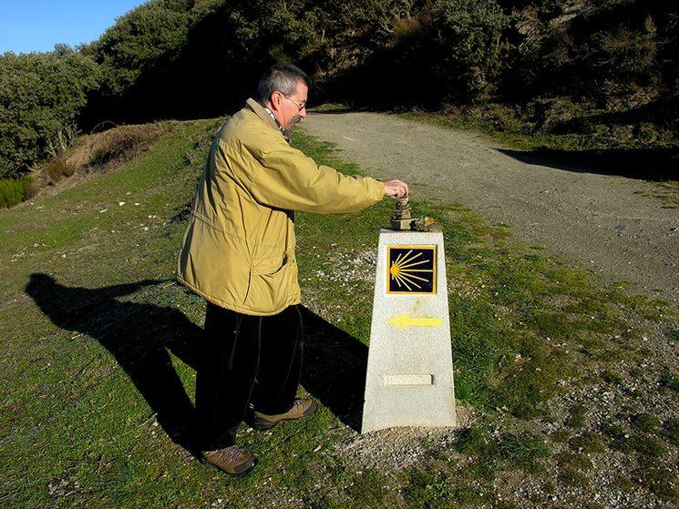 Rafael Alarcón en un lugar del Camino de Santiago. Cornatel (El Bierzo, León). 2013.