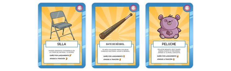"""Cartas de """"OBJETO"""" - Son las cartas de color amarillo y sirven para lanzar contra un oponente."""