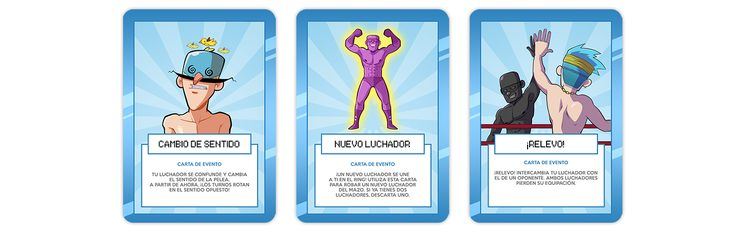 Cartas de EVENTO - Son las cartas de color azul y pueden utilizarse únicamente durante tu propio turno.