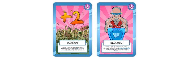 """Cartas de """"INTERVENCIÓN"""" - Son las cartas de color rosa y pueden utilizarse en cualquier momento de la partida."""