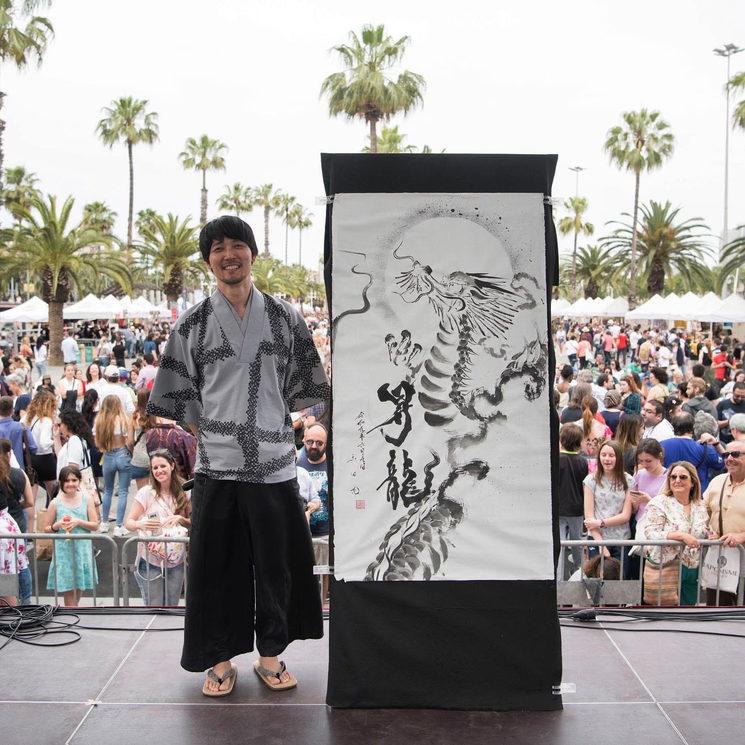 Artista de Caligrafía Japonesa Mitsuru Nagata