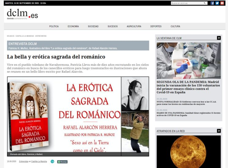 Portada del Diario Digital de Castilla- La Mancha. Martes 15 de septiembre de 2020