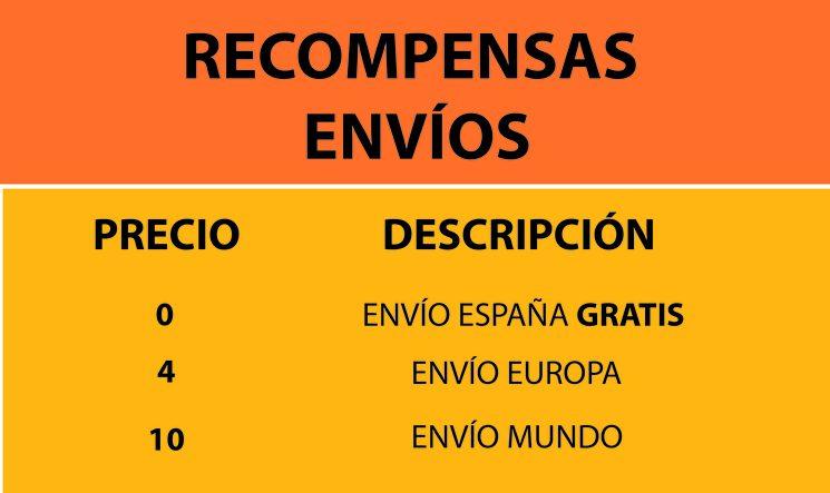 Recompensas para Envíos fuera de España