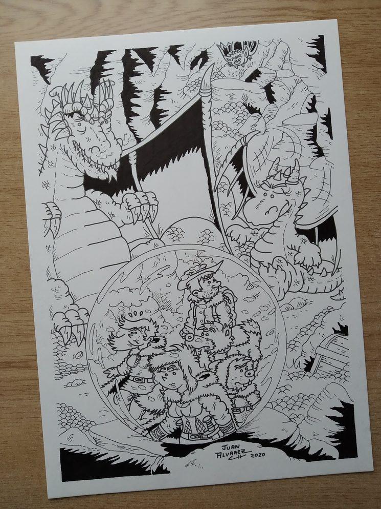 Dibujo lámina dragones