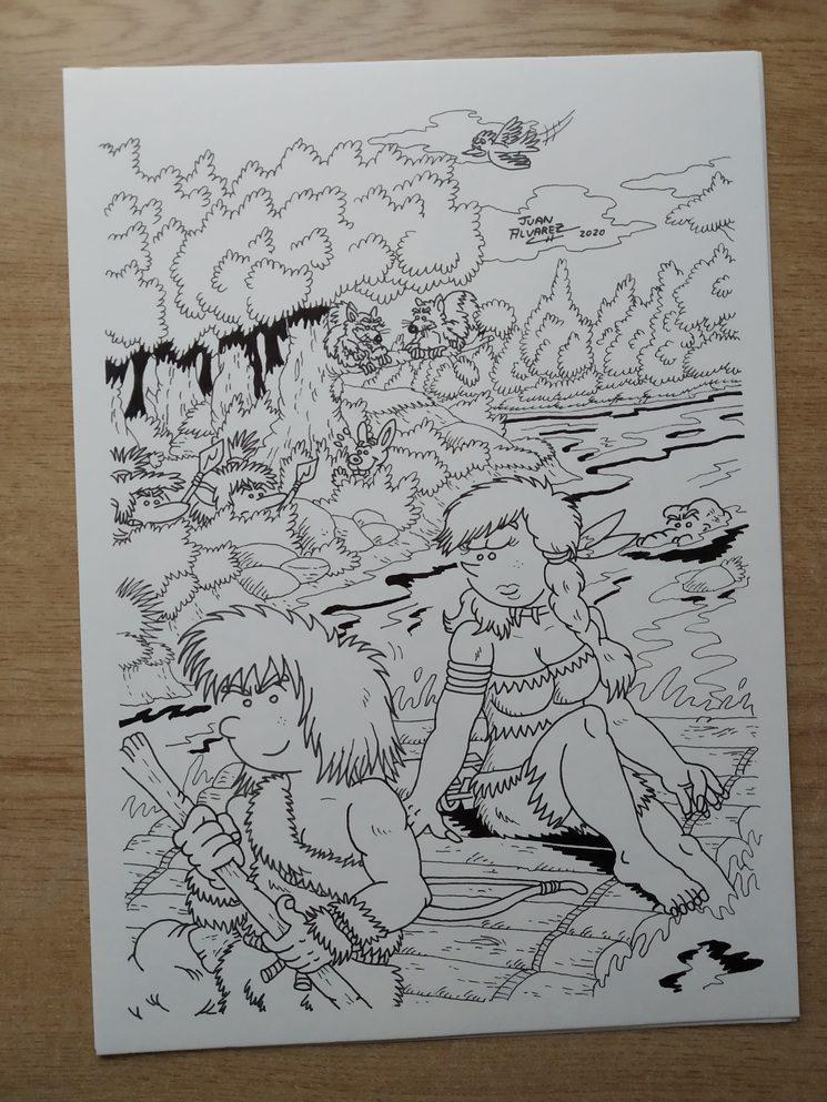 Dibujo lámina Thurk y Shonna