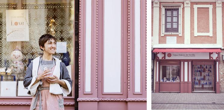 Lola hija un día de tienda cualquiera y la fachada de la que fue nuestra preciosa tienda