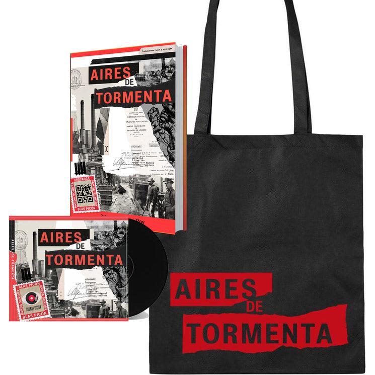Libro, CD y bolsa de Aires de Tormenta