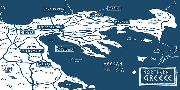 Northern Greece map