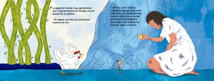 """Gante, la gigante menguante, en """"Las Aventuras de Tanaka"""". Por @beiba.arte"""