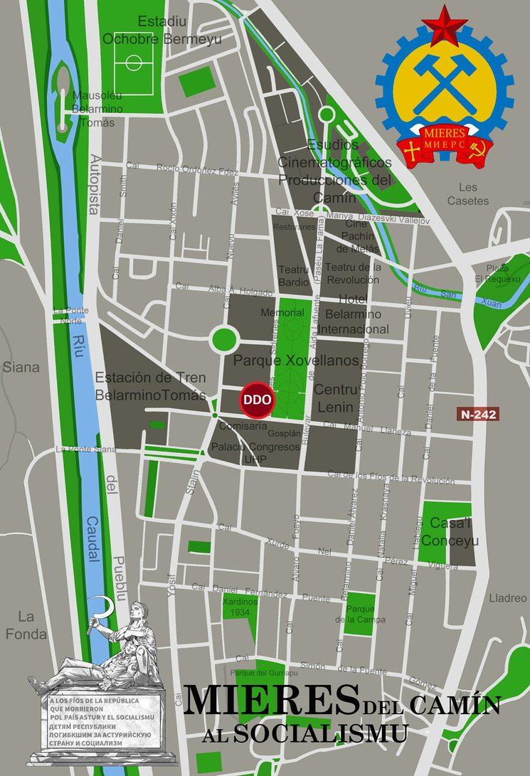 Mapa del llugar de la presentación