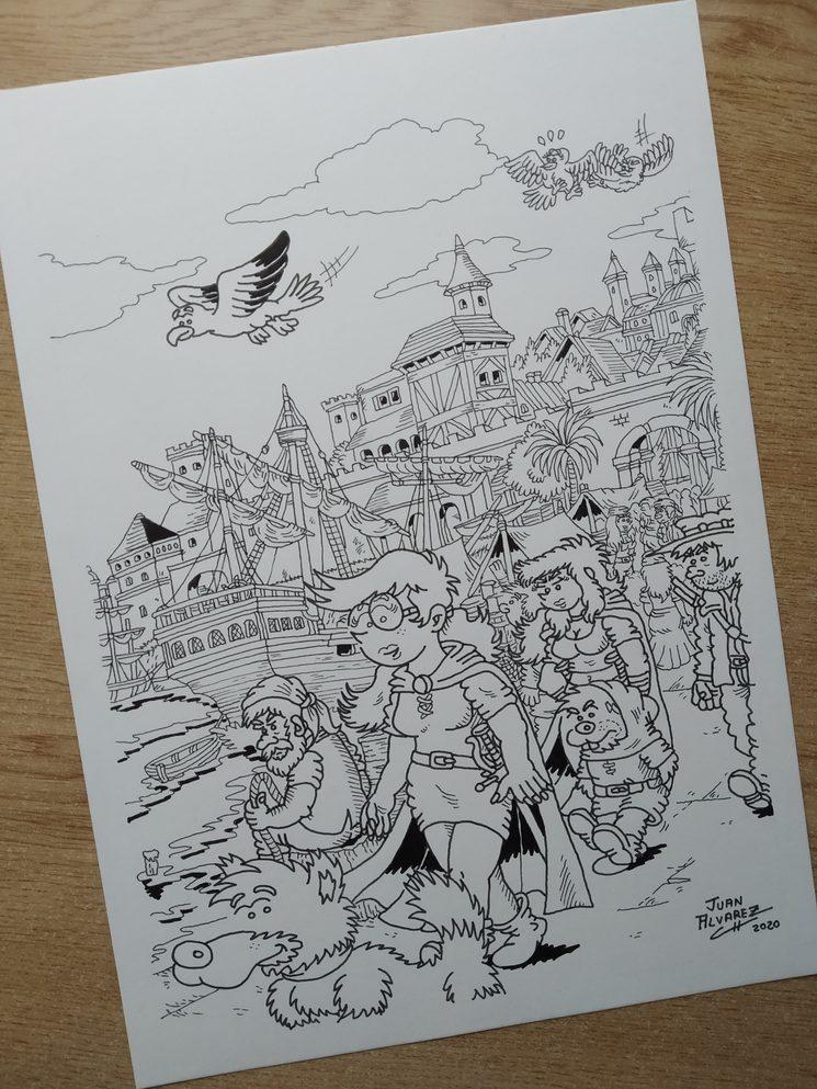 Dibujo lámina del puerto de Durn