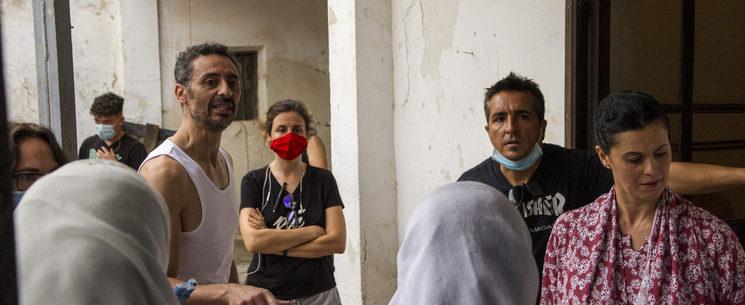 Abdelatif Hwidar, Virginia Llera, Manu Gómez y Farah Hamed