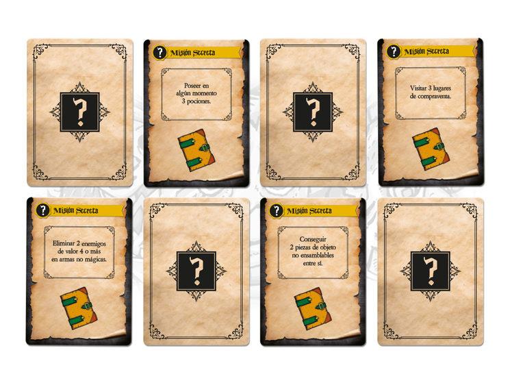 8 cartas de misiones