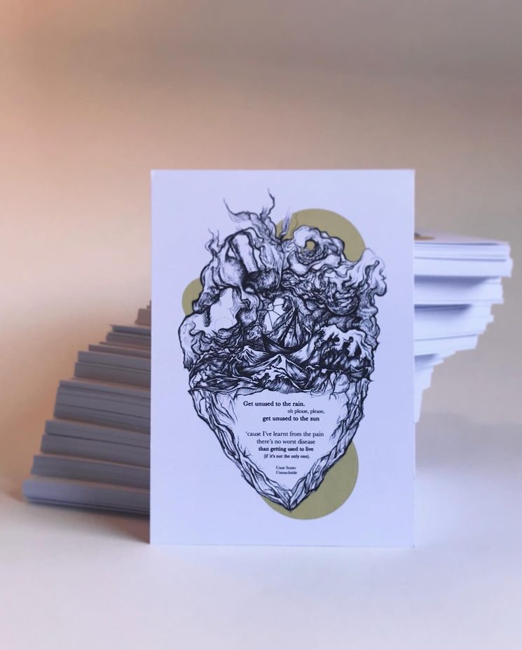 postal ilustrada personalizada