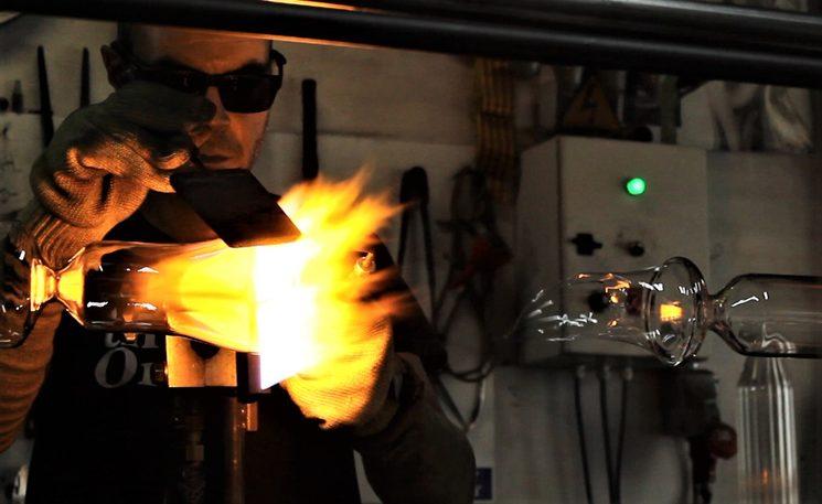 Fabricación del vidrio por el artesano Ferran Collado