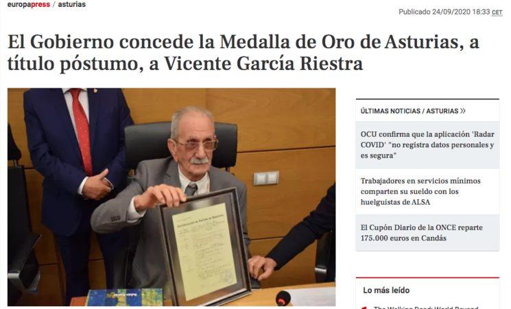 Medalla de Asturies.