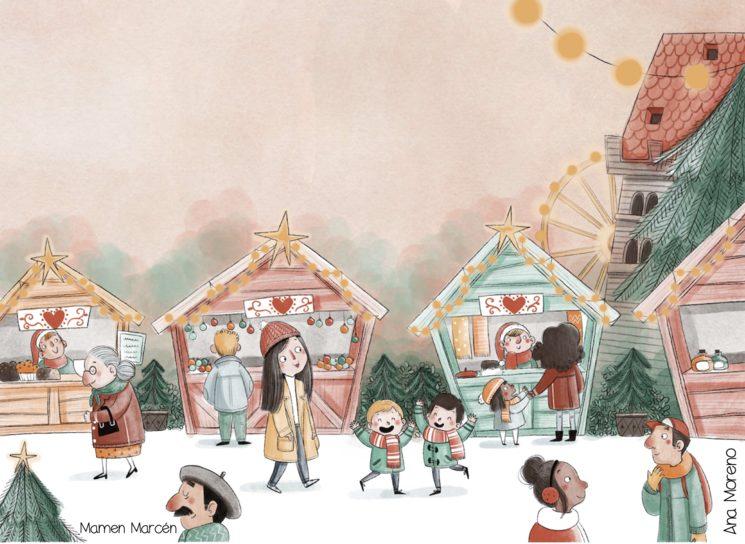 Mamen Marcén (Chica Con Flequillo) ilustra, de forma increíble, esta aventura navideña que escribí hace ya unos años.