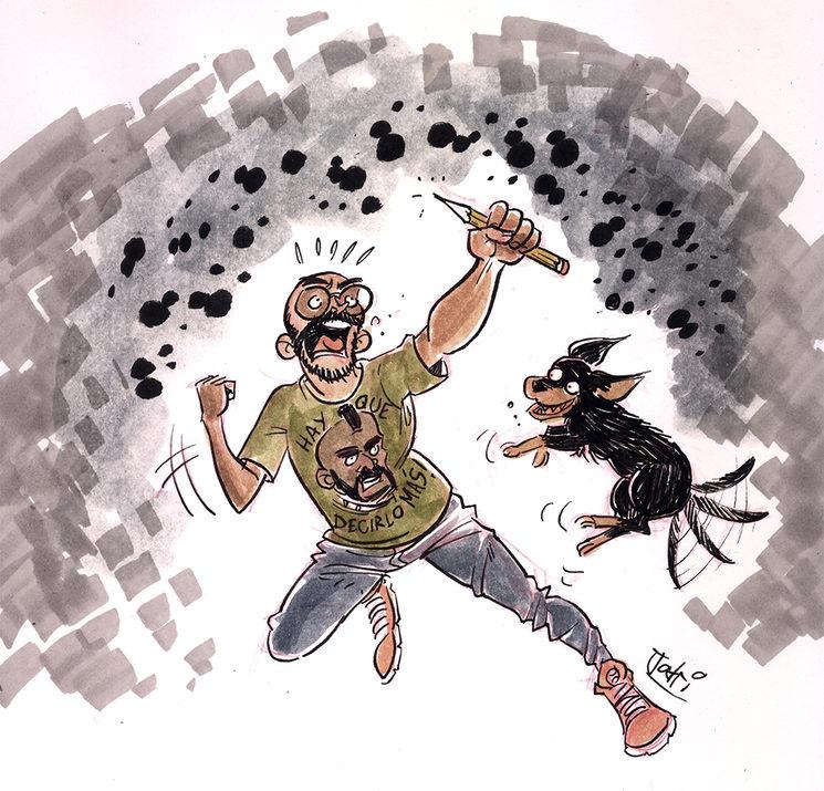 yo y mi perro Cleatus