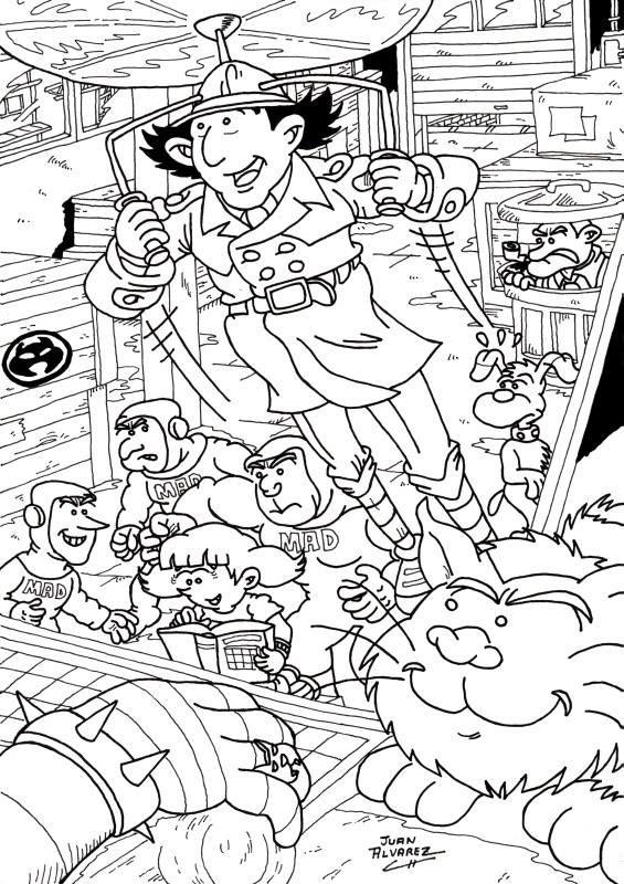 Dibujo original - Inspector Gadget fanart