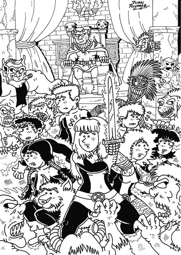 Dibujo original - Nuevos Mutantes fanart