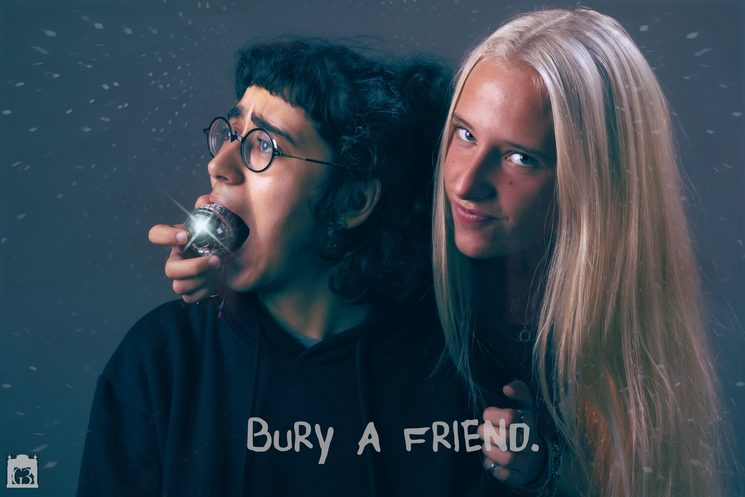 "Cartell ""bury a friend"", disponible en Din A3 i Din A4"