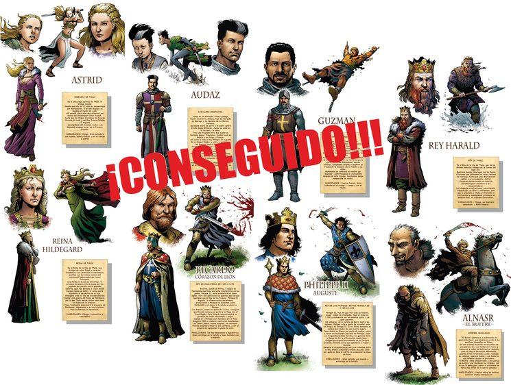 Objetivo 2º - 8 Páginas extra: Personajes y Reseña histórica ¡CONSEGUIDO!!!