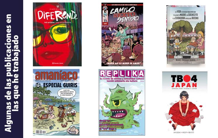 Algunas de las publicaciones en las que he trabajado los últimos años