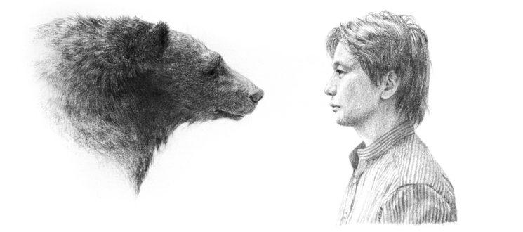The bear and the Matagi © Hiroko Ebihara