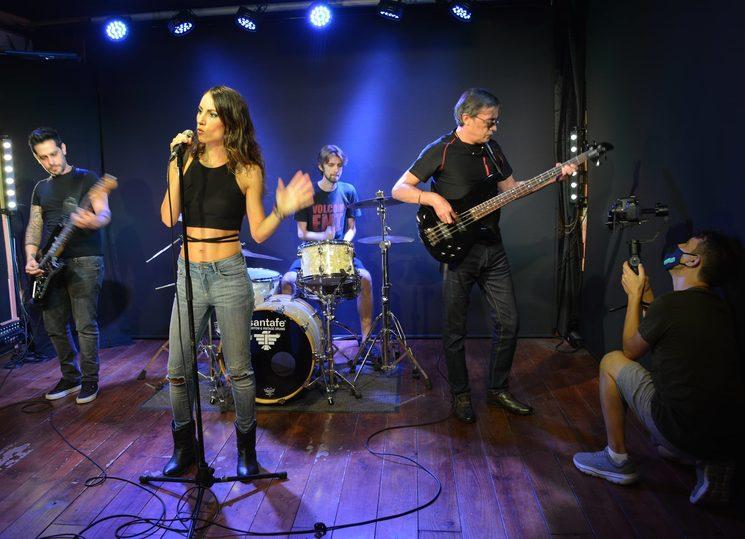 Rodaje del videoclip, con Javi Desiderio a los mandos
