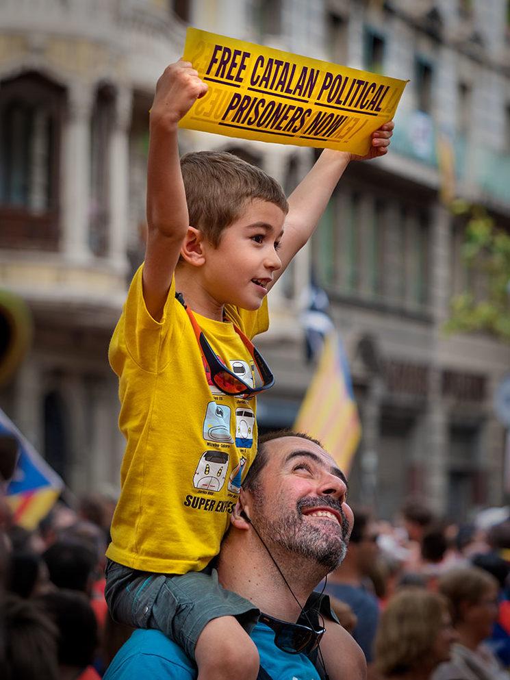 Barcelona, Diada 11 de setembre de 2018.