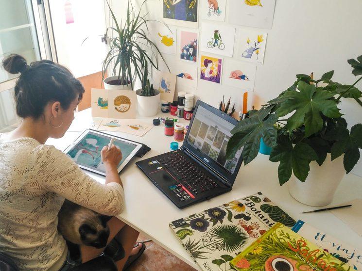 Irene Bofill en su estudio