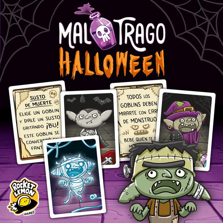 MAL TRAGO Halloween. CARTAS PROMOCIONALES