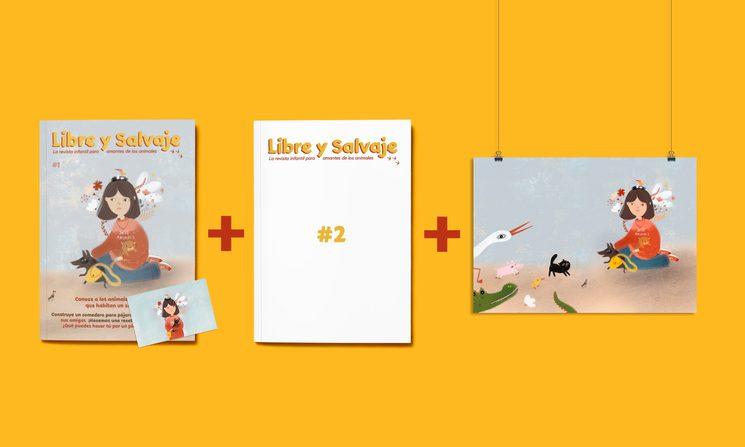 Suscripción anual + lámina (y postal de regalo).