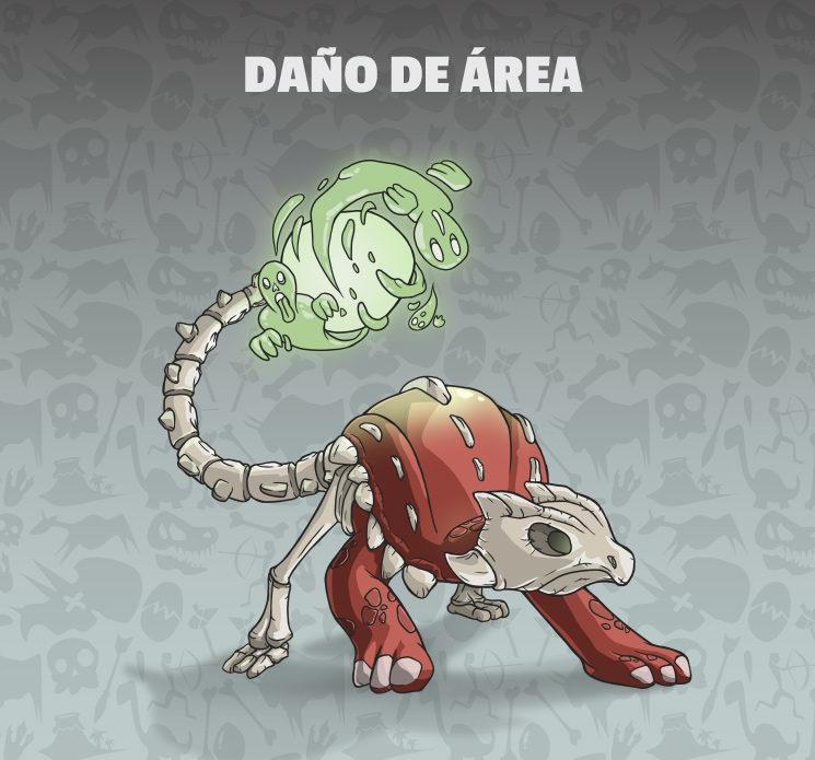 El Azotasaurio es muy útil para eliminar enjambres de enemigos